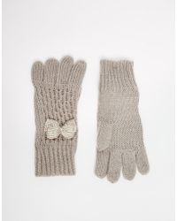 Oasis - Bow Gloves - Lyst