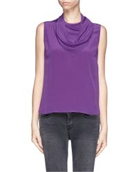 Sandro Scarf Front Tank Top - Lyst
