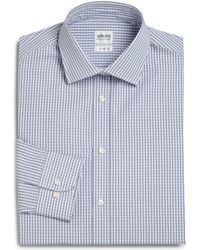 Armani Slim-Fit Check Dress Shirt - Lyst