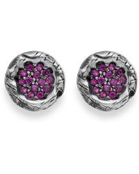 Platadepalo - Purple Zircon & Silver Earrings - Lyst