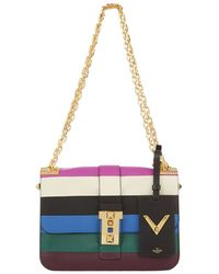 Valentino - B-rockstud Striped Shoulder Bag - Lyst
