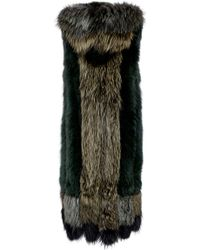 Sonia Rykiel - Silver Fox Fur Hooded Vest - Lyst