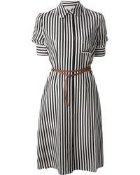 Altuzarra Belted Striped Shirt Dress - Lyst