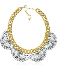 Juicy Couture - Flower Cluster Collar Necklace - Lyst