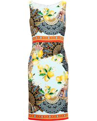 Dolce & Gabbana Lemon Print Sleeveless Dress - Lyst
