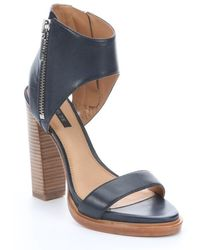Rachel Zoe Navy Leather Jamie Open Toe Cutout Sandals - Lyst