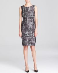 Lafayette 148 New York Silver Angelina Dress - Lyst
