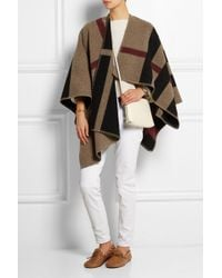 Burberry Prorsum Checked Wool And Cashmere-Blend Cape - Lyst