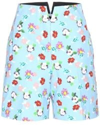 Thom Browne Printed Cotton Shorts - Lyst