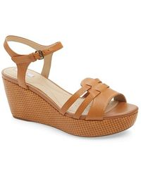 Geox 'Thelma 2' Ankle Strap Wedge Sandal - Lyst