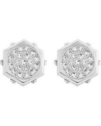 Swarovski Bolt Stainless Steel and Crystal Stud Earrings - Lyst