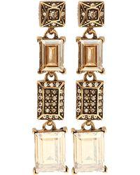 Oscar de la Renta Shadow Drop Earrings - Lyst