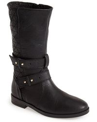 Steve Madden Women'S 'Kristenn' Leather Moto Boot - Lyst