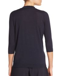 Piazza Sempione Wool/Silk Knit Top - Lyst