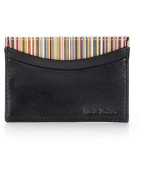 Paul Smith Multistriped Card Case - Lyst