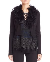 Nanette Lepore | Feather Cardigan | Lyst
