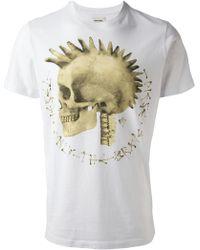 Diesel Skull Print Tshirt - Lyst