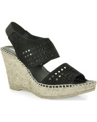 Andre Assous Cyline - Cut Out Slingback Wedge Espadrille - Lyst