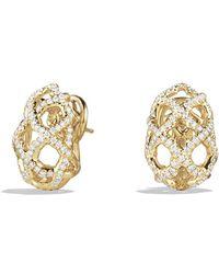 David Yurman Venetian Quatrefoil Earrings with Diamonds in Gold - Lyst
