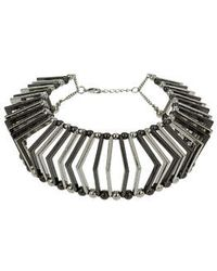 Topshop Triangular Cage Collar - Lyst