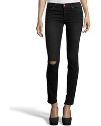 Textile Elizabeth and James | Dmid Wash Stretch Denim 'debbie' Distressed Skinny Jeans | Lyst