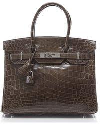 Hermes Preowned Porosus Crocodile Birkin 30cm Bag - Lyst