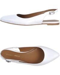 Pierre Darre' White Ballet Flats - Lyst