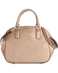 Calvin Klein Key Items Saffiano Satchel - Lyst