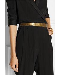 Etro Hammered Goldtone and Cord Belt - Lyst