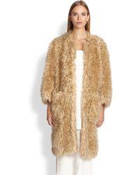 Adam Lippes Textured Cocoon Coat - Lyst