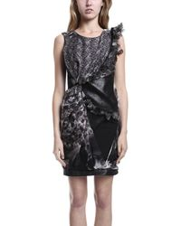 Aminaka Wilmont Woven Dress Butterflies Black/Print - Lyst