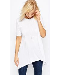 ASOS | Top With Dip Back In Oversized Fit | Lyst