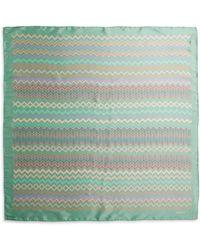 Missoni Silk Multicolor Zigzag-Print Scarf - Lyst
