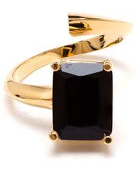 Bijules Black Emerald Knuckle Ring - Lyst