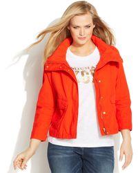 Michael Kors Michael Plus Size Zip-Front Jacket - Lyst
