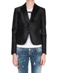 DSquared² Silk Blend Blazer Jacket - Lyst