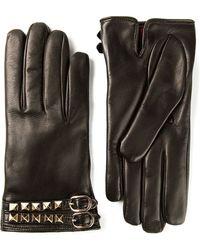 Valentino Black Rockstud Gloves - Lyst
