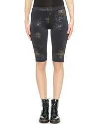 Cynthia Rowley Print Bike Shorts - Galaxy Print - Lyst