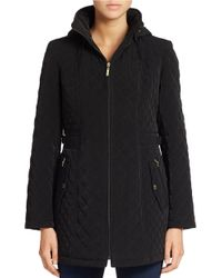 Gallery - Hooded Quilted Coat - Lyst