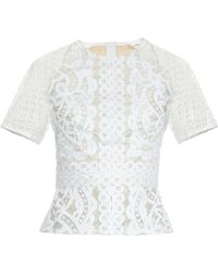Lover Poppy Japanese-Lace Top white - Lyst