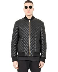 Blood Brother Quilted Leather Bomber Jacket - Lyst