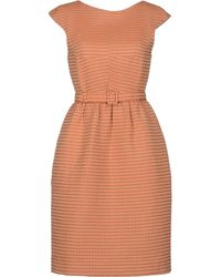 Jonathan Saunders Orange Short Dress - Lyst