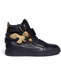 Giuseppe Zanotti 'London' Eagle Leather Sneakers - Lyst