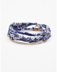 Dafne Vintage Fabric Bracelet - Lyst