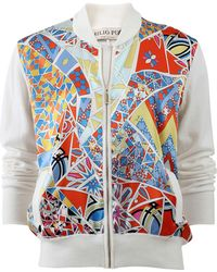 Emilio Pucci | Silk Front Bomber | Lyst
