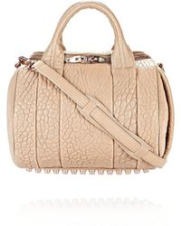 Alexander Wang Rockie In Pebbled Latte With Rose Gold - Lyst