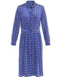 Rachel Comey Hunter Stars And Stripes-Print Silk Dress - Lyst