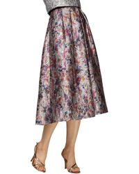 Phoebe Floral Printed Jacquard Skirt - Lyst