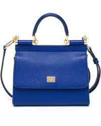 Dolce & Gabbana Miss Sicily Large Top-Handle Satchel blue - Lyst