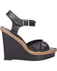Barneys New York | Double-buckle Wedge Sandals | Lyst